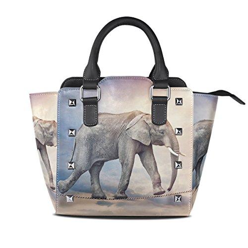 tout Haut En Cuir Dames poignée À Bandoulière Elephant Coosun Multicolore Funambules Pu Moyen Main Fourre Sac Sacs deCxWorB