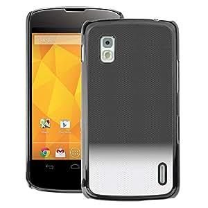 A-type Arte & diseño plástico duro Fundas Cover Cubre Hard Case Cover para LG Nexus 4 E960 (Gradient Black White Horizon Clean Pattern)