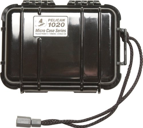 - Pelican 1020-025-110 Waterproof Micro Case - for GoPro, Camera, and More, Black