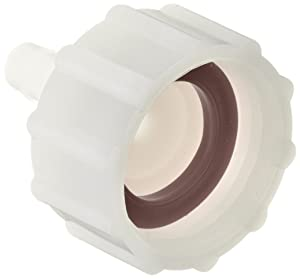 "Dixon TCF72 Nylon Tuff-Lite Fitting, Short Shank Coupling, 3/4"" GHT Female x 1/4"" Hose ID Barbed"