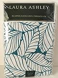 Laura Ashley 70 in Round Flannel Back Vinyl Tablecloth Palm Leaf