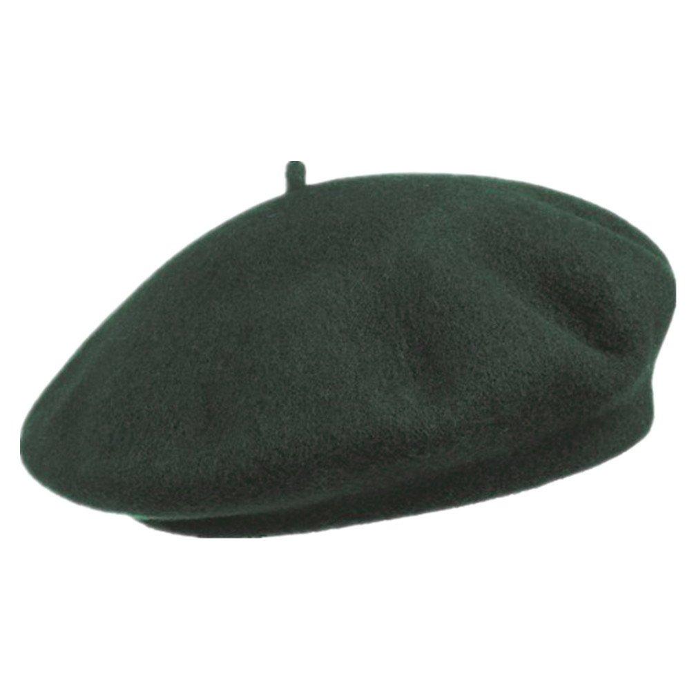 SAMGOO Damen Baskenmützen Klassischer Einfarbig Barett Mütze Wollmütze