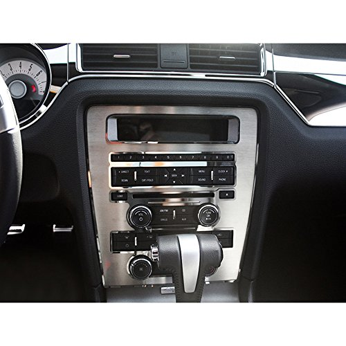 Stainless Steel Center Dash - Upgrade Your Auto Stainless Steel Center Dash/Radio/AC Trim Ring for 2010-2014 Ford Mustang