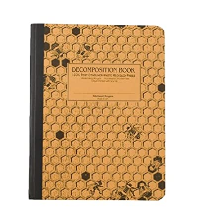 Honeycomb Decomposition Book College-ruled Composition Notebook With 100/% Post-consumer-waste Recycled Pages