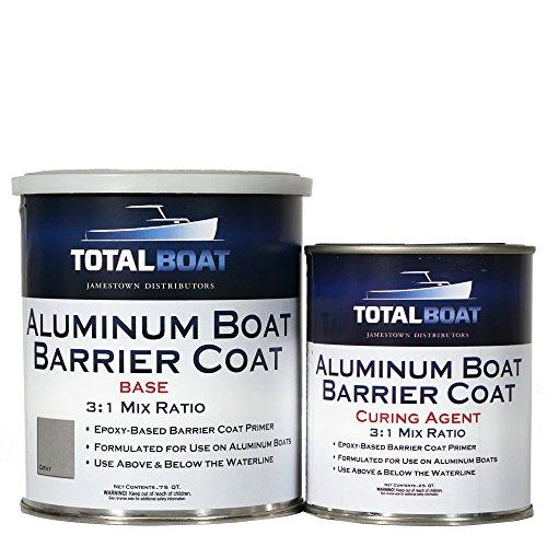 TotalBoat Aluminum Boat Barrier Coat (Quart, Gray) (Best Boat Bottom Paint Saltwater)