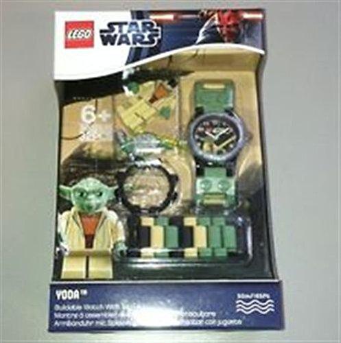 Lego Kids Star Wars Yoda Wrist Watch w/ Minifigure (Green)