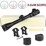 Twod Rifle Scope Tactical 6-24X50mm AOEG/3-9x40mm Optics Hunting Rifle Scope Red/Green Illuminated Crosshair Gun Scope + Covers + Free Mounts
