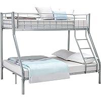 Marco individual cama de metal, blanco, plata, plata,Silver