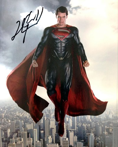 Superman Man of Steel Henry Cavill reprint signed photo #2 RP