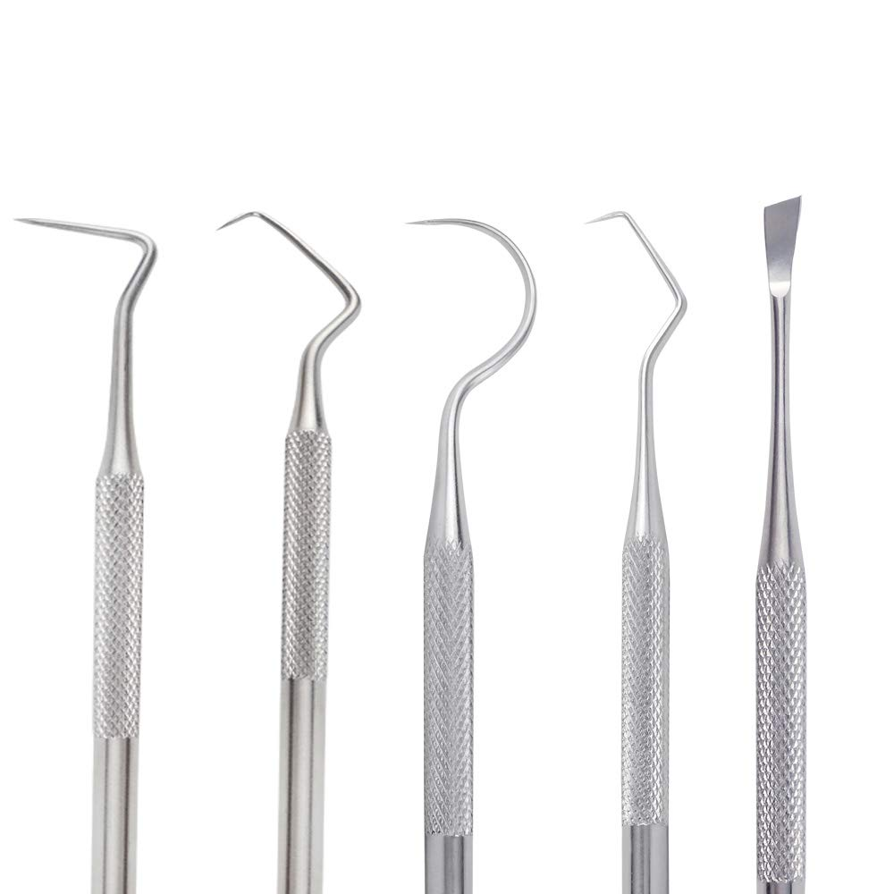 Vinyl Weeding Tools Kit, Uddiee Stainless Steel Weeding Tools Craft Set for Weeding Vinyl -Work with Cricut, Cameos,Silhouettes, Cameos, Lettering (5 Packs)