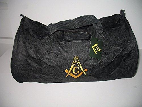 Embroidered Black Mason Freemasons Freemason Utility Duffle Sports Travel Bag
