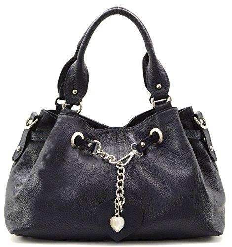 Cuir-Destock sac à main porté main et bandoulière cuir grainé modèle theron - nouvelle collection 2018 Noir