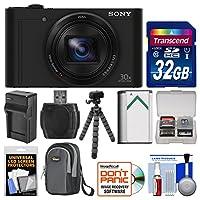 Sony Cyber-Shot DSC-WX500 Wi-Fi Digital Camera with 32GB Card + Case + Battery & Charger + Flex Tripod + Kit by Sony
