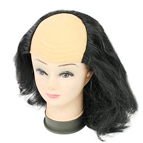 Halloween Women Costume Wigs Bald Old Woman Wig Party Mask Masquerade Supplies -