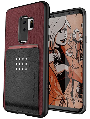 Ghostek Exec Wallet Galaxy S9 Plus S9+ Case with Built-In Metal Plate for Magnetic Car Mounts & Holds 5 Cards