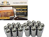 Diesel Laptops 20 Pack of 33mm x 4-3/16 Chrome Full Moon Screw on Nut Cover for Commercial Heavy Semi Trucks with 12-month Membership to TruckFaultCodes