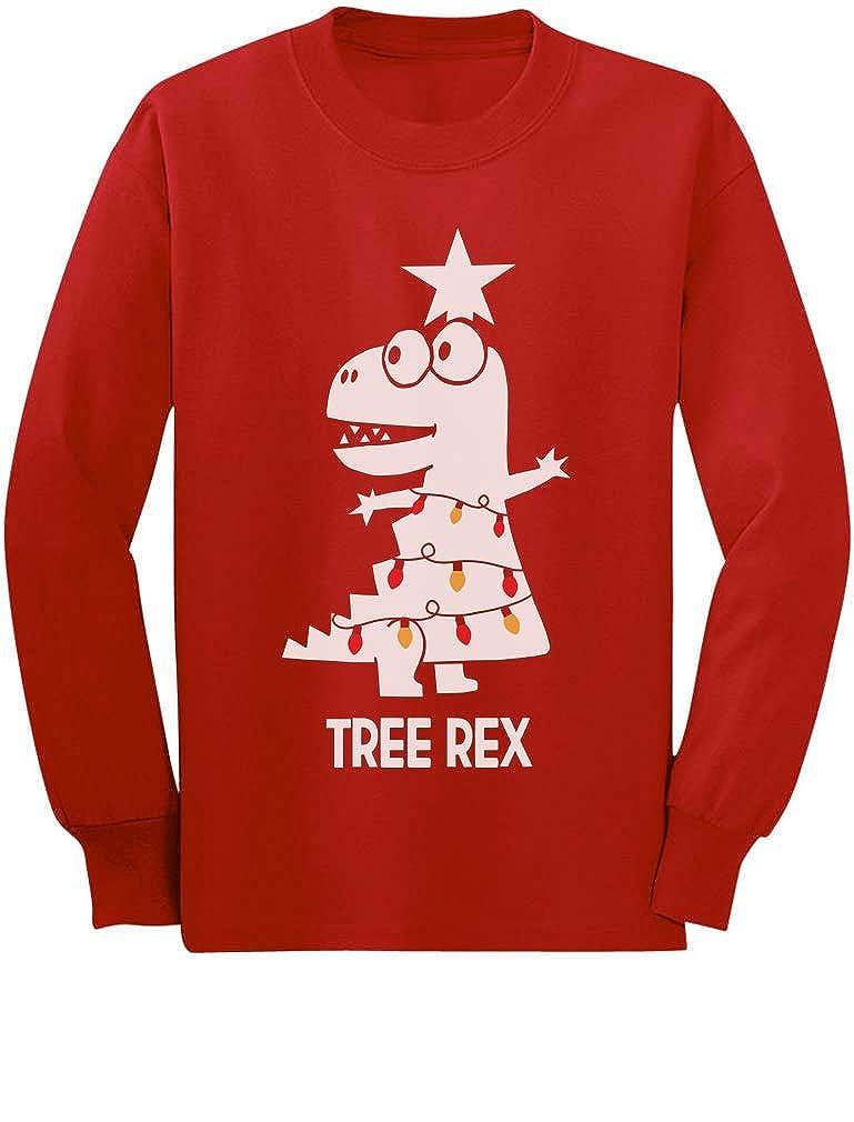 Tree Rex Cute Funny T-Rex Dinosaur Christmas Toddler/Kids Long Sleeve T-Shirt GMPlhZ3gC5