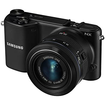 "Samsung NX2000 20.3MP CMOS Smart WiFi Mirrorless Digital Camera with 20-50mm Lens and 3.7"" Touch Screen LCD (Black) (OLD MODEL)"