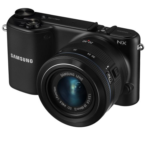 Samsung NX2000 20.3MP CMOS Smart WiFi Mirrorless Digital Camera with 20-50mm Lens and 3.7'' Touch Screen LCD (Black) (OLD MODEL) by Samsung