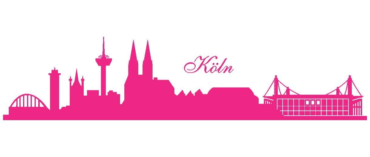 Samunshi® Wandtattoo Köln Skyline Stadion in 6 6 6 Größen und 19 Farben (230x52cm schwarz) B00B1CXGYI Wandtattoos & Wandbilder f00aaf