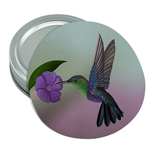 Hummingbird Crowned Woodnymph Purple Violet Round Rubber Non-Slip Jar Gripper Lid Opener