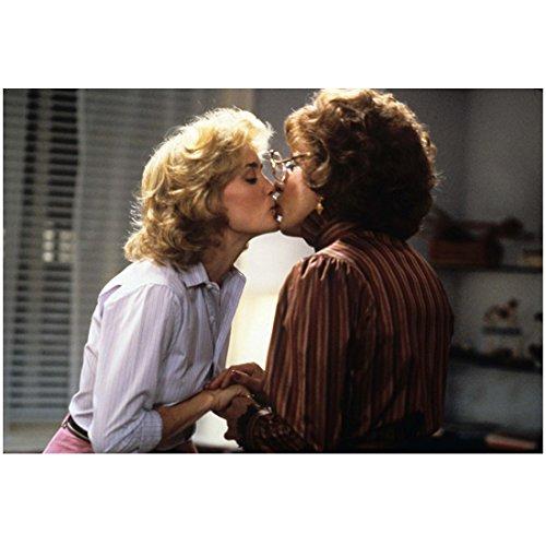 Tootsie Dustin Hoffman Dressed in Drag Kissing a Beautiful Jessica Lange8 x 10 Inch - Measurements Jessica Lange
