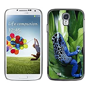 YOYO Slim PC / Aluminium Case Cover Armor Shell Portection //Cool Neon Blue Jungle Frog //Samsung Galaxy S4