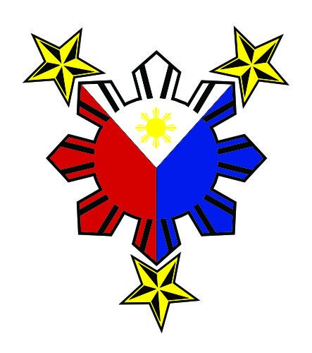 (JS Artworks Philippine Flag Nautical Star Vinyl Sticker Decal)
