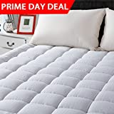 """LEISURE TOWN Queen Cooling Mattress Pad Cover(8-21""""Deep Pocket)-Fitted Quilted Mattress Topper Hypoallergenic Down Alternative Fill"""