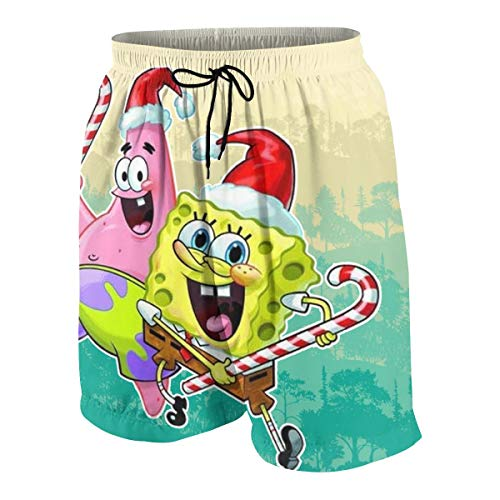 PSnsnX Spongebob and Patrick Christmas Boys Teens Summer Trunk -