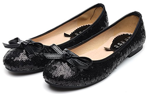 Ballet Odema Black Women Shoes Shoes Bridal Wedding Dress Flat Sequin Single Party xxapRqwzC