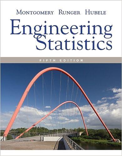montgomery engineering statistics solution manual