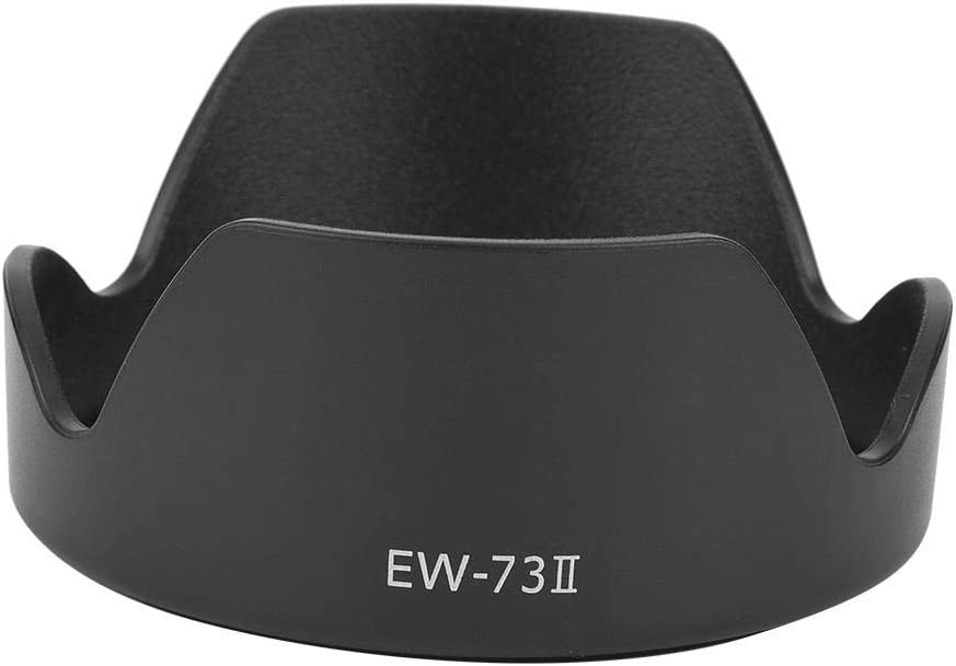 Bewinner Camera Hood,EW-73Ⅱ ABS Mount Lens Hood Replacement for Canon 24-85mm f3.5-4.5 USM Lens,Mounted on The Camera Firmly and Stably