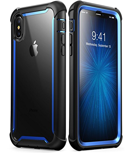iPhone X case, i-Blason Full-Body Rugged Clear Bumper Case w