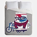 Hipster Duvet Cover / PBR Beer Can Bedroom Decor / Made in USA / Great Bedroom Artwork