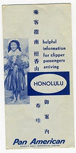 Clipper Honolulu (Pan American Clipper Passengers Arriving in Honolulu Information Brochure 1950's)