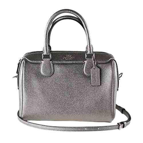 Coach Handbag Mini Bennett Satchel Leather Gunmetal