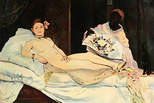 Posterazzi History of Painting 1900 Olympia Poster Print by Edouard Manet (24 x 36)