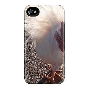 MEfpYBn4242Okiik Case Cover Chicken Fluff Iphone 4/4s Protective Case