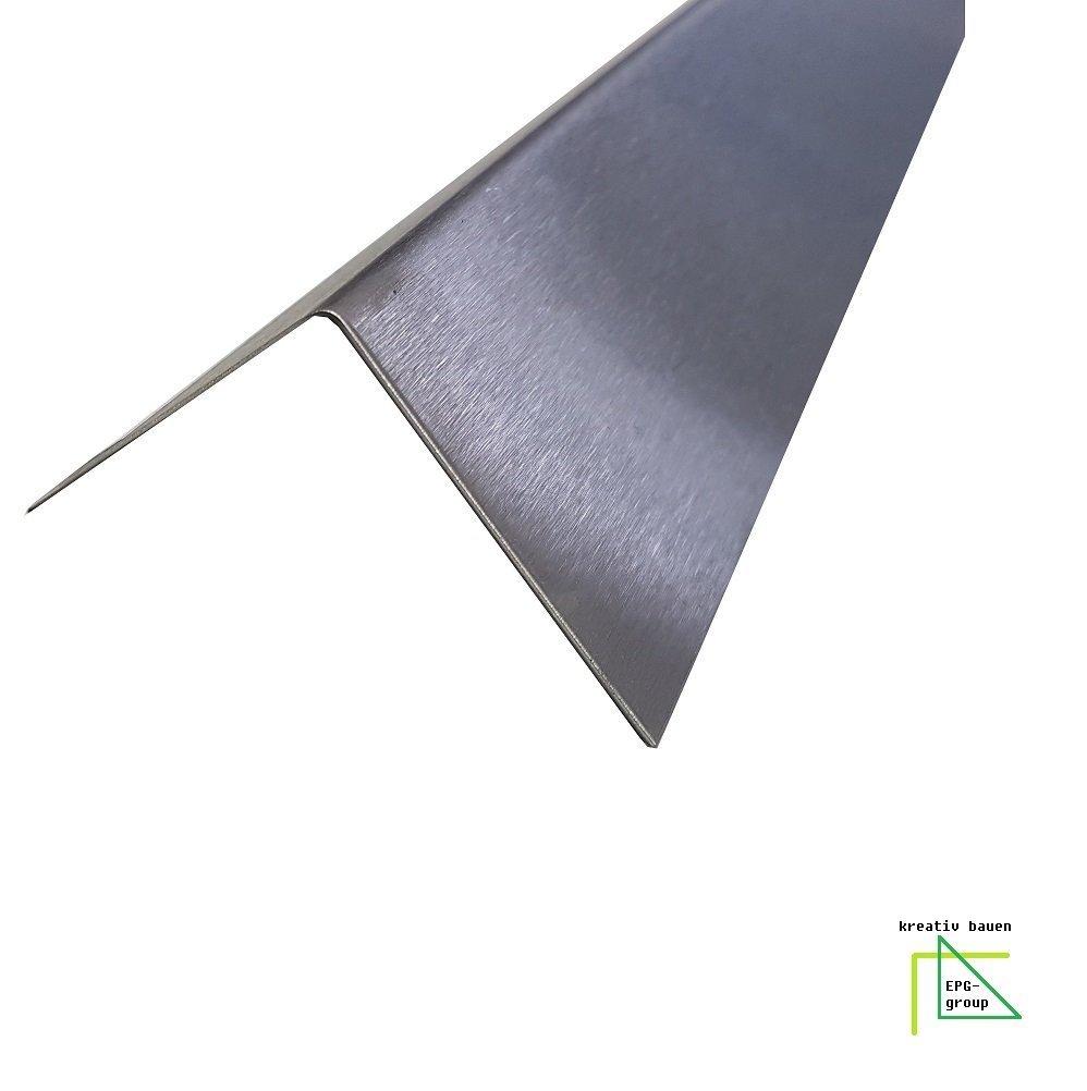 1500mm Edelstahl Winkel K240 geschliffen V2A 0, 8mm stark Winkelblech Kantenschutz, kreativ bauen Einheuser-Petzke Dustov GbR