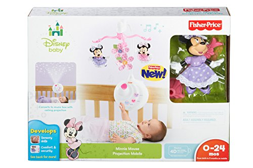 Fisher price disney baby minnie mouse projection mobile buy online in uae baby product - Minnie mouse mobel ...