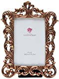 Fashioncraft Vintage Copper Color Baroque Design Frame, 4 x 6''