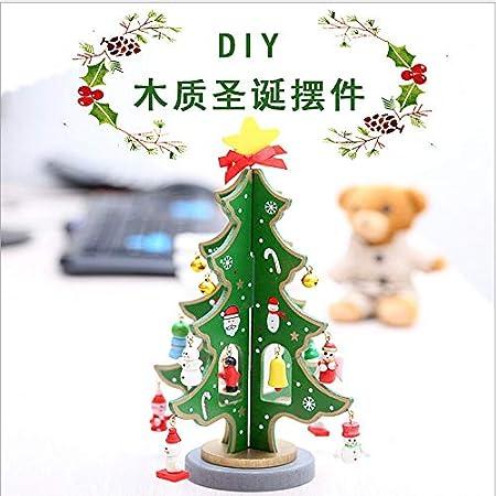 ganjue DIY Árbol de Navidad Accesorios de árbol Hechos a Mano Mini Barra de Mesa de Navidad Mesa de 25 cm Árbol de Navidad de Escritorio: Amazon.es: Hogar