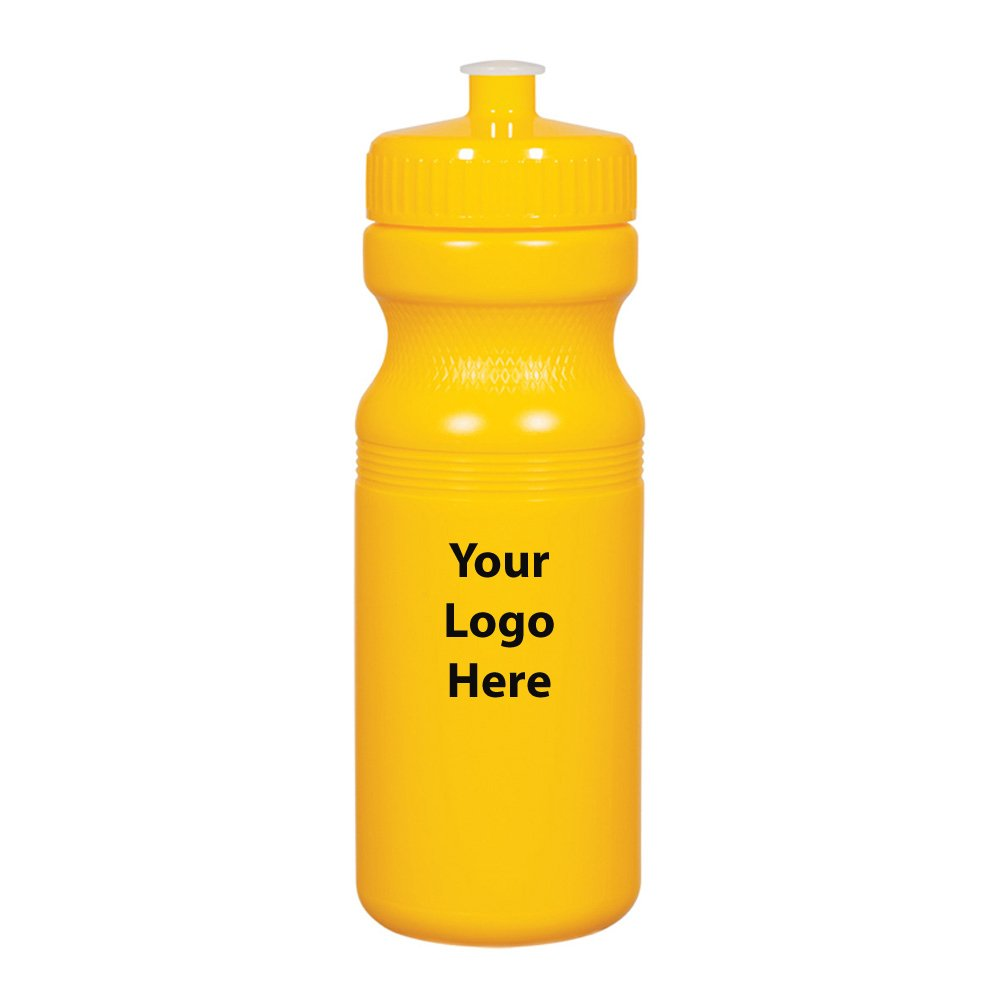 """Solid Color 24 Oz. Fitness Bottles - 100 Quantity - $1.75 Each - Promotional Product/Bulk with Your Logo/Customized Size: 3"""" W x 8"""" H."""