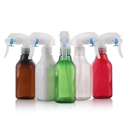 2 botellas de pulverizador de 200 ml de plástico recargable con pulverizador blanco resistente para aceites