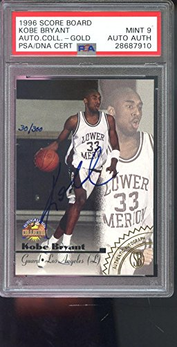 efeb7f332 1996-97 Score Board Kobe Bryant ROOKIE AUTO Autograph Graded Card 9 - PSA  DNA Certified - Basketball Slabbed Rookie Cards