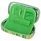 Fdit Portable Diabetic Insulin Cooler Bag Organizer Medical Insulation Cooling Travel Case Green