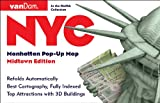 NYC Pop-Up Map by VanDam - Patented, laminated pocket city street map of Manhattan w/ all attractions, museums, sights, hotels, Broadway theaters & ... 2019 Edition Map - Folded Map, July 15, 2019