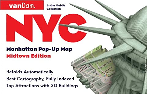 Pop-Up NYC Map by VanDam - City Street Map of New York City, New York - Laminated folding pocket size city travel and subway map, 2017 Edition (Pop-Up Map)