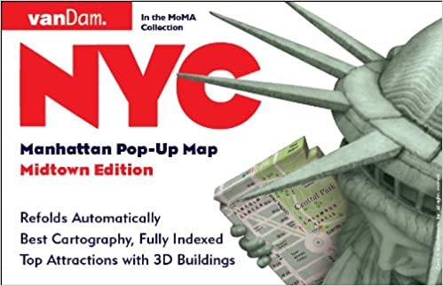 pop up nyc map by vandam city street map of new york city new york laminated folding pocket size city travel and subway map 2018 edition pop up map
